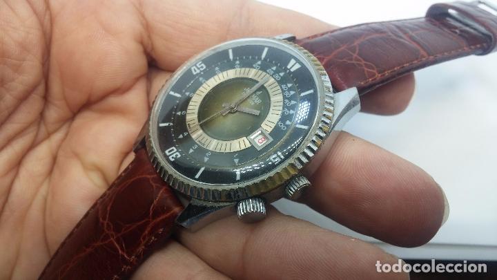 Relojes de pulsera: Botito reloj de cuerda de caballero vintage, muy grande 4,50 aprox c/c y antiguo, funcionando - Foto 8 - 81250792