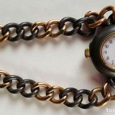 Relojes de pulsera: RELOJ DE PULSERA PARA SEÑORA. CAJA Y CADENA EN METAL CIRCA 1950. . Lote 81882588