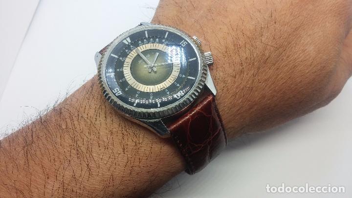 Relojes de pulsera: Botito reloj de cuerda de caballero vintage, muy grande 4,50 aprox c/c y antiguo, funcionando - Foto 12 - 81250792