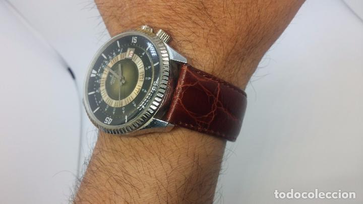 Relojes de pulsera: Botito reloj de cuerda de caballero vintage, muy grande 4,50 aprox c/c y antiguo, funcionando - Foto 14 - 81250792