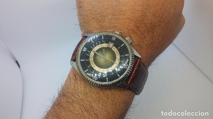 Relojes de pulsera: Botito reloj de cuerda de caballero vintage, muy grande 4,50 aprox c/c y antiguo, funcionando - Foto 15 - 81250792
