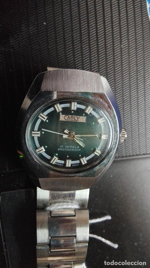 Relojes de pulsera: CARLY. PERFECTO ESTADO FUNCIONANDO SHOOCKPROOF RUSSIA MOVT.17 RUBIS - Foto 2 - 82660224