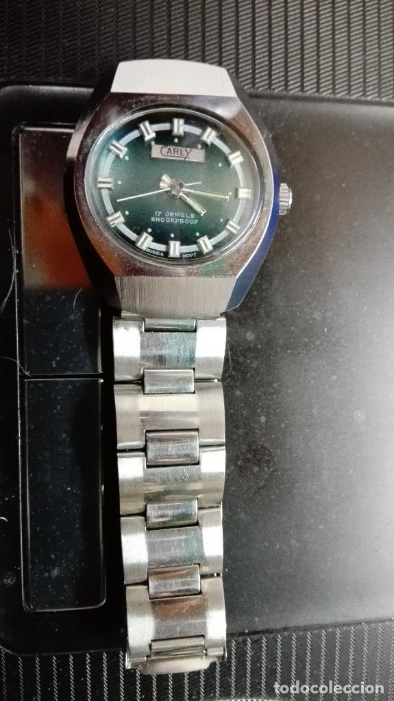 Relojes de pulsera: CARLY. PERFECTO ESTADO FUNCIONANDO SHOOCKPROOF RUSSIA MOVT.17 RUBIS - Foto 4 - 82660224