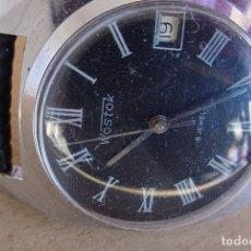 Relojes de pulsera: RELOJ MECÁNICO RUSO VOSTOK URSS NÚMEROS ROMANOS. Lote 77957061
