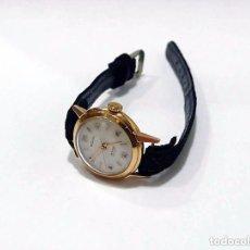 Relojes de pulsera: RELOJ DE PULSERA PARA MUJER EN ORO 18K REGILUX EB.SUISSE INCABLOC- C.1950 MAQUINARIA FUNCIONANDO. Lote 77222621