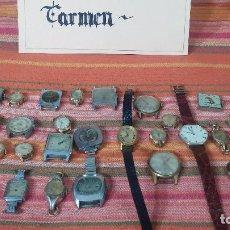 Relojes de pulsera - Botito lote de 27 relojes variados, para reparar o para piezas, alguno funciona - 83535016