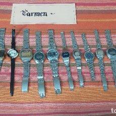 Relojes de pulsera: BOTITO LOTE DE 15 RELOJES VARIADOS, PARA REPARAR O PARA PIEZAS, ALGUNO FUNCIONA. Lote 83575164