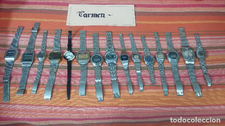 Relojes de pulsera: BOTITO LOTE DE 15 RELOJES VARIADOS, PARA REPARAR O PARA PIEZAS, ALGUNO FUNCIONA - Foto 2 - 83575164