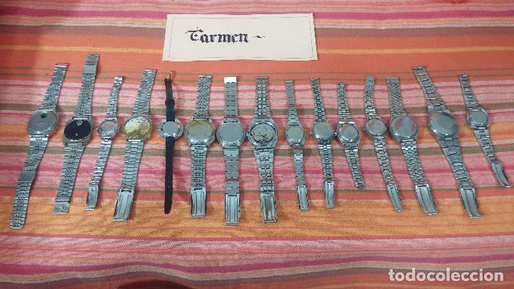 Relojes de pulsera: BOTITO LOTE DE 15 RELOJES VARIADOS, PARA REPARAR O PARA PIEZAS, ALGUNO FUNCIONA - Foto 8 - 83575164