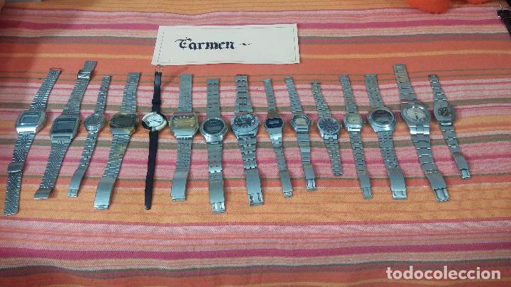 Relojes de pulsera: BOTITO LOTE DE 15 RELOJES VARIADOS, PARA REPARAR O PARA PIEZAS, ALGUNO FUNCIONA - Foto 17 - 83575164