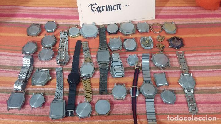 Relojes de pulsera: BOTITO LOTE DE 35 RELOJES VARIADOS, PARA REPARAR O PARA PIEZAS, ALGUNO FUNCIONA - Foto 5 - 83580136
