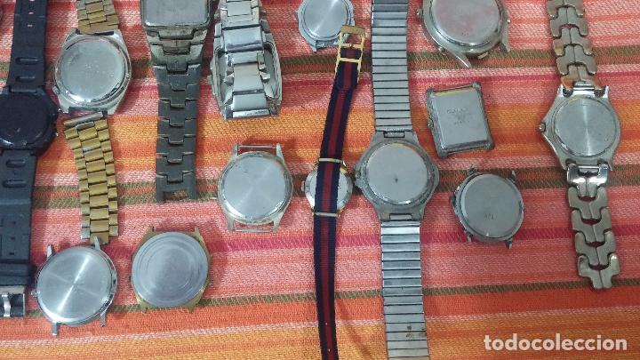 Relojes de pulsera: BOTITO LOTE DE 35 RELOJES VARIADOS, PARA REPARAR O PARA PIEZAS, ALGUNO FUNCIONA - Foto 6 - 83580136