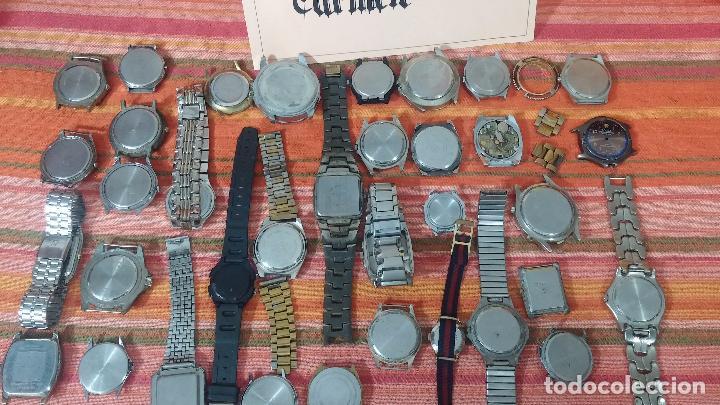 Relojes de pulsera: BOTITO LOTE DE 35 RELOJES VARIADOS, PARA REPARAR O PARA PIEZAS, ALGUNO FUNCIONA - Foto 9 - 83580136