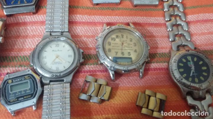 Relojes de pulsera: BOTITO LOTE DE 35 RELOJES VARIADOS, PARA REPARAR O PARA PIEZAS, ALGUNO FUNCIONA - Foto 10 - 83580136