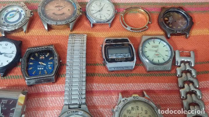 Relojes de pulsera: BOTITO LOTE DE 35 RELOJES VARIADOS, PARA REPARAR O PARA PIEZAS, ALGUNO FUNCIONA - Foto 13 - 83580136