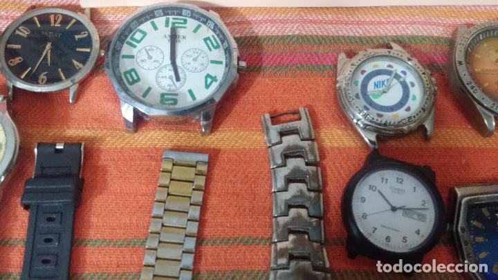 Relojes de pulsera: BOTITO LOTE DE 35 RELOJES VARIADOS, PARA REPARAR O PARA PIEZAS, ALGUNO FUNCIONA - Foto 17 - 83580136