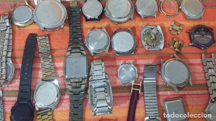 Relojes de pulsera: BOTITO LOTE DE 35 RELOJES VARIADOS, PARA REPARAR O PARA PIEZAS, ALGUNO FUNCIONA - Foto 25 - 83580136