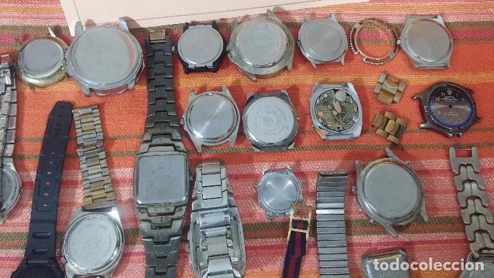 Relojes de pulsera: BOTITO LOTE DE 35 RELOJES VARIADOS, PARA REPARAR O PARA PIEZAS, ALGUNO FUNCIONA - Foto 26 - 83580136