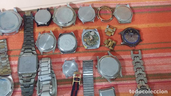 Relojes de pulsera: BOTITO LOTE DE 35 RELOJES VARIADOS, PARA REPARAR O PARA PIEZAS, ALGUNO FUNCIONA - Foto 28 - 83580136