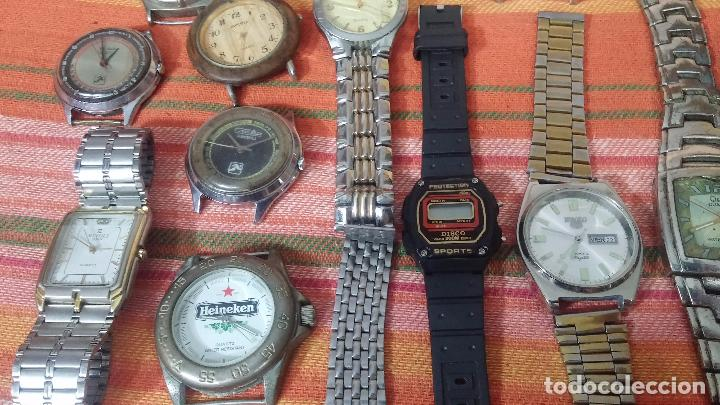 Relojes de pulsera: BOTITO LOTE DE 35 RELOJES VARIADOS, PARA REPARAR O PARA PIEZAS, ALGUNO FUNCIONA - Foto 30 - 83580136