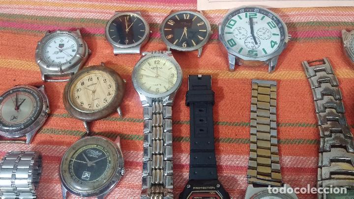 Relojes de pulsera: BOTITO LOTE DE 35 RELOJES VARIADOS, PARA REPARAR O PARA PIEZAS, ALGUNO FUNCIONA - Foto 31 - 83580136