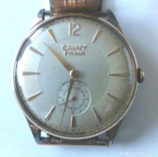 Relojes de pulsera: RELOJ CAUNY PRIMA, FUNCIONA. MED. 38 MM SIN CONTAR CORONA. Lote 170027773