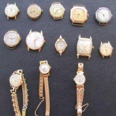 Relojes de pulsera: COLECCION ANTIGUA 13 RELOJES PULSERA SEÑORA, VER DESCRIPCION FOTOGRAFIAS. Lote 84282320