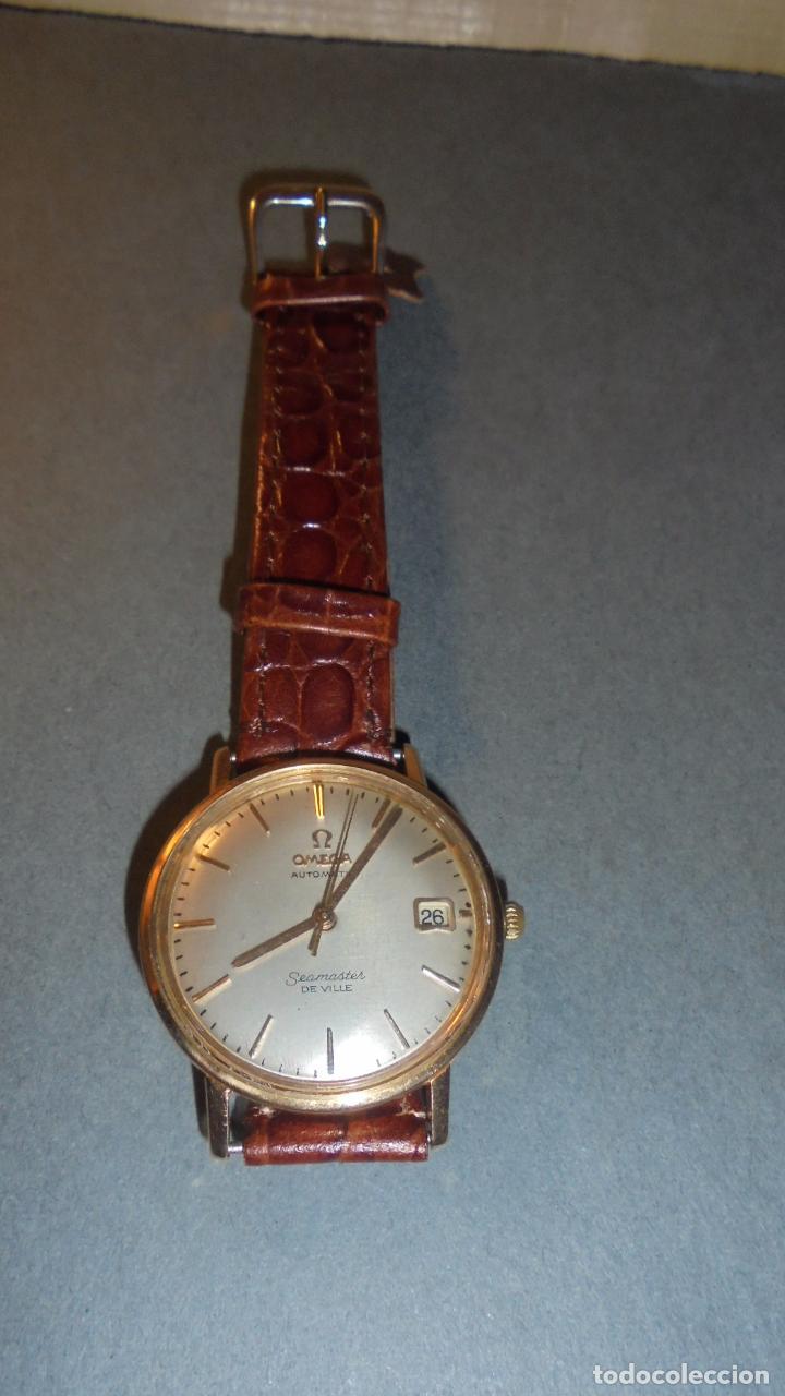 Relojes de pulsera: ANTIGUO RELOJ OMEGA AUTOMATIC SEAMASTER DE VILLE DE ORO 18KL. PERFECTO ESTADO 4,5X3,8 CM. - Foto 3 - 84728028