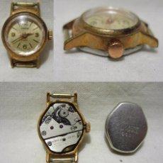 Relojes de pulsera: CARTEL. ANTIGUO RELOJ SUIZO. 17 RUBIS. CHAPADO ORO. Lote 84985340