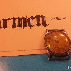 Relojes de pulsera: BOTITO RELOJ DE CUERDA MUY ANTIQUE, FUNCIONANDO, DE PASADORES FIJOS, EL CRISTAL ESTA COMO AGRIETADO. Lote 85178792