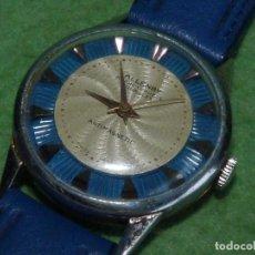Relojes de pulsera: RARO RELOJ ALLENBY 17 RUBIS ESFERA TEXTURIZADA TRASERA VISTA SEGUNDERO CENTRAL ESCASO SWISS MADE. Lote 86064732