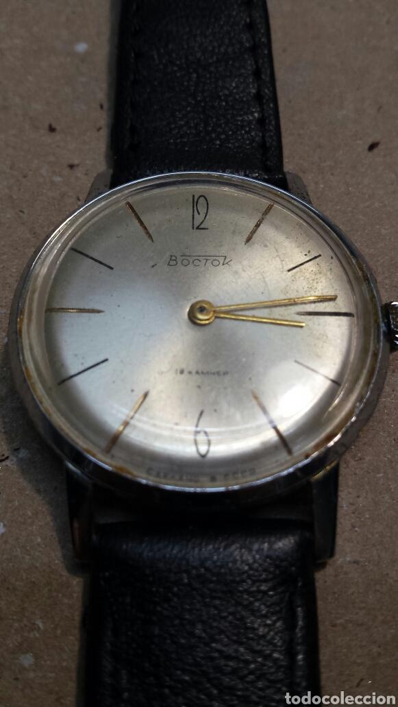 RELOJ ANTIGUO DE CUERDA BOCTOK 18 RUBIS RUSO FUNCIONANDO (Relojes - Pulsera Carga Manual)