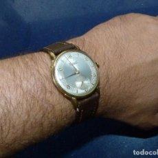Relojes de pulsera: ELEGANTE RELOJ RADIANT GRANDE CALIBRE AS1130 RARO 19 RUBIS ESFERA TEXTURIZADA CARGA MANUAL AÑOS 50. Lote 86762092