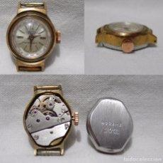Relojes de pulsera: CARTEL. 17 RUBÍS. ANTIMAGNETIC. ANTIGUO RELOJ SUIZO. CHAPADO ORO.. Lote 86903956