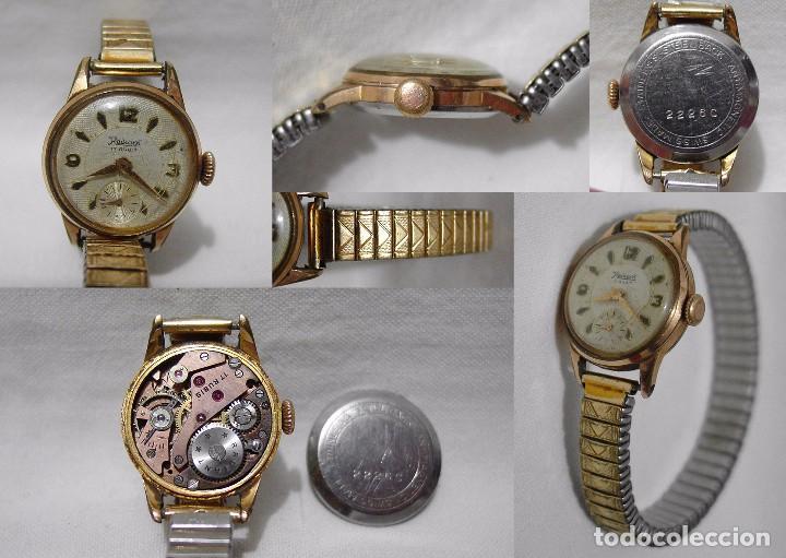 bebé ventas calientes precio asombroso Radiant. 17 Rubís. Antimagnetico. Antiguo Reloj suizo. Plaque oro.