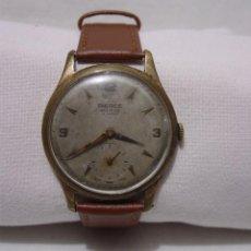 Relojes de pulsera: PIERCE INCITUS. 15 RUBÍS. ANTIGUO RELOJ SUIZO. PLAQUE ORO.. Lote 86908528