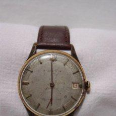 Relojes de pulsera: MERCURY. ANTIGUO RELOJ SUIZO. 17 RUBÍS. ANTIMAGNETIC. CALENDARIO. CHAPADO EN ORO.. Lote 86908784