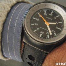 Relojes de pulsera: ACERO BLACK PISTOL, EN VINTAGE KELTON MECÁNICO 1969, P233A. Lote 87230700