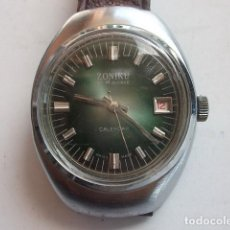 Relojes de pulsera: ANTIGUO RELOJ ZONIKU EN ACERO GRAN TAMAÑO,MUY BUEN ESTADO BARATO. Lote 87650724