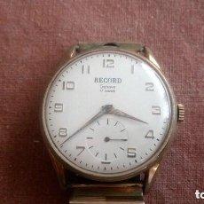 Relojes de pulsera: ANTIGUO RELOJ DE PULSERA RECORD GENEVE, 17 RUBIS, CON PULSERA ELASTICA, FUNCIONA PERFECTAMENTE. Lote 88159352