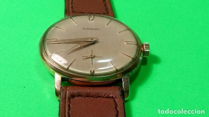 Relojes de pulsera: ANTIGUO RADIANT - AÑOS 60. FUNCIONANDO. 35.1 - 37.2 MM. CARGA MANUAL. DESCRIP Y FOTOS VARIAS. - Foto 11 - 88566208