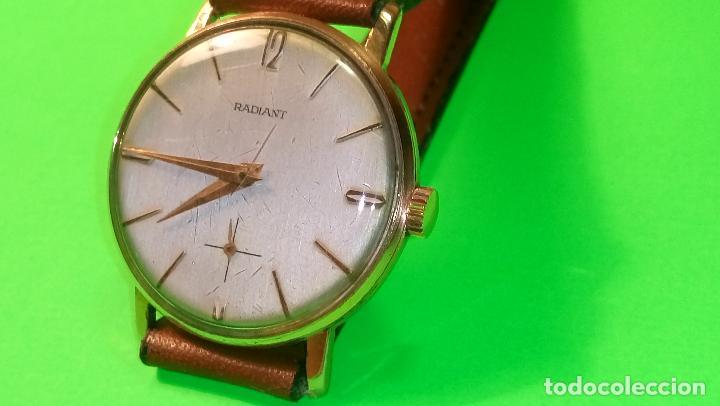 ANTIGUO RADIANT - AÑOS 60. FUNCIONANDO. 35.1 - 37.2 MM. CARGA MANUAL. DESCRIP Y FOTOS VARIAS. (Relojes - Pulsera Carga Manual)