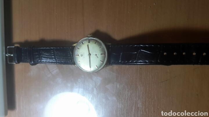 ANTIGUO RELOJ CYMA SUIZO ESFERA CHAMPAN CARGA MANUAL FUNCIONANDO (Relojes - Pulsera Carga Manual)