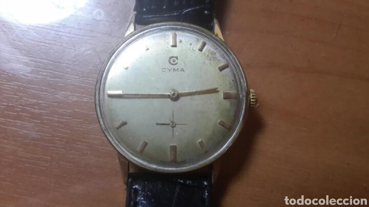 Relojes de pulsera: Antiguo reloj Cyma suizo esfera champan carga manual funcionando - Foto 3 - 90071402