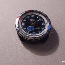 Relojes de pulsera: ANTIGUO RELOJ MECANICO CAJA DE ACERO COLOR NEGRO - MARCA AMSA PARIS 17 RUBIS ANTICHOC FUNCIONANDO . Lote 90417344