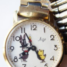 Relojes de pulsera: RELOJ COMUNISTA CCCP. INFANTIL. DIBUJOS RUSOS. INTERESANTE. ESFERA 25MM APROX. FUNCIONA PERFECTAMENT. Lote 90435254