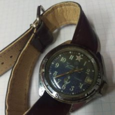 Relojes de pulsera: VIEJO RELOJ RUSO A CUERDA CORONA ROSCADA - FUNCIONANDO. Lote 90720650