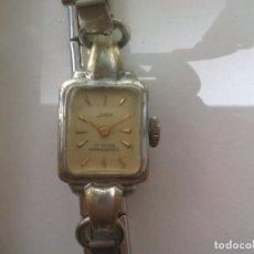 Relojes de pulsera: RELOJ DE PULSERA DE SEÑORA INDUS 17 RUBIS, ANTIMAGNETIC. CORREA EXTENSIBLE. CLOCK WOMEN WATCH. Lote 93663530