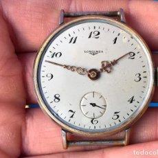 Relojes de pulsera: RELOJ LONGINES A CUERDA DE GRAN TAMAÑO - 38 MM DE ESFERA. Lote 98089346