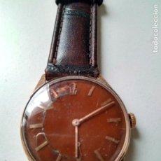 Relojes de pulsera: VINTAGE RELOJ CAUNY PRIMA LUXE CABALLERO CHAPADO EN ORO 10 MICRONS A CUERDA FUNCIONANDO. Lote 94078470